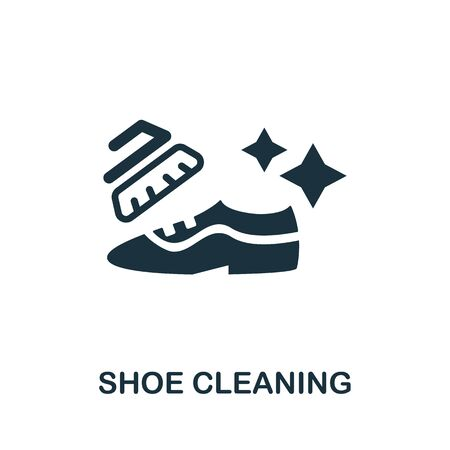 Shoe Cleaning icon. Simple illustration from laundry collection. Creative Shoe Cleaning icon for web design, templates, infographics and more.