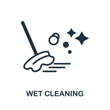 Wet Cleaning icon. Simple illustration from laundry collection. Creative Wet Cleaning icon for web design, templates, infographics and more.