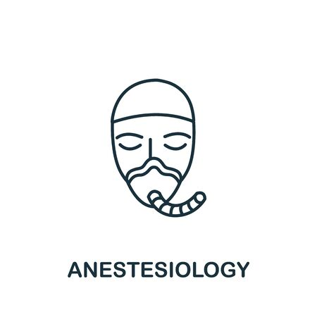 Anesthesiology icon from medical collection. Simple line element anesthesiology symbol for templates, web design and infographics.