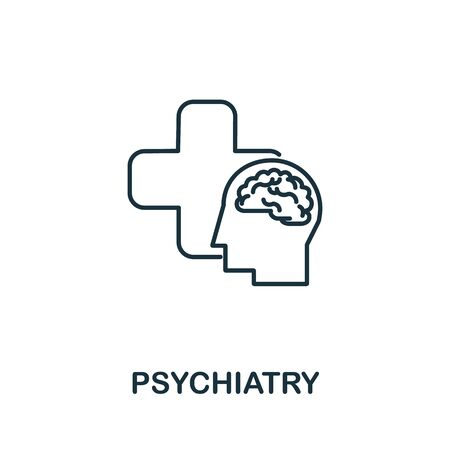 Psychiatry icon. Simple line element psychiatry symbol for templates, web design and infographics. Illustration