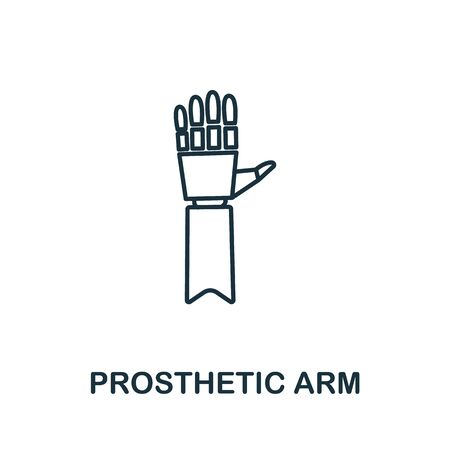 Prosthetic Arm icon. Simple line element prosthetic arm symbol for templates, web design and infographics.