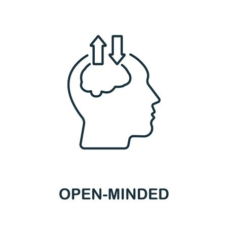 Open-Minded icon from personality collection. Simple line Open-Minded icon for templates, web design and infographics.