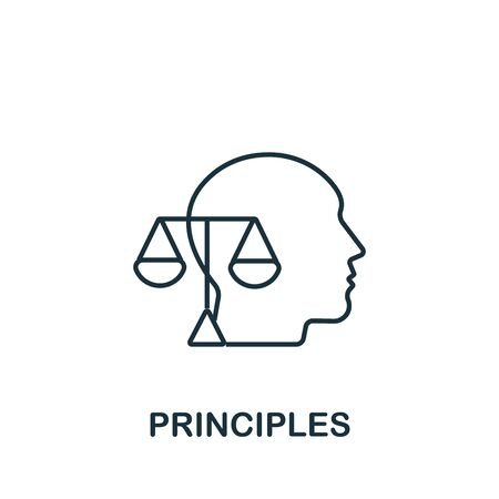 Principles icon from personality collection. Simple line Principles icon for templates, web design and infographics.