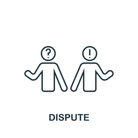 Dispute icon from personality collection. Simple line Dispute icon for templates, web design and infographics. Stock Illustratie