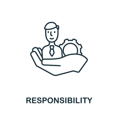 Responsibility icon from personality collection. Simple line Responsibility icon for templates, web design and infographics.