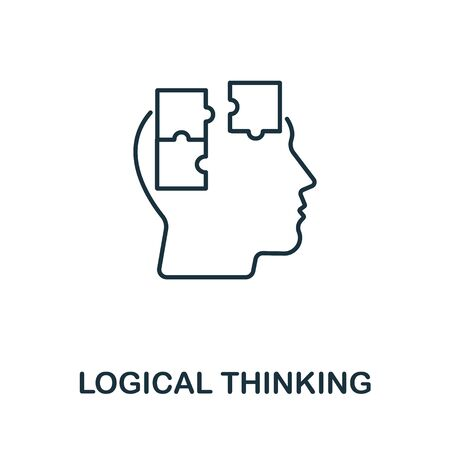 Logical Thinking icon from personality collection. Simple line Logical Thinking icon for templates, web design and infographics. Ilustración de vector