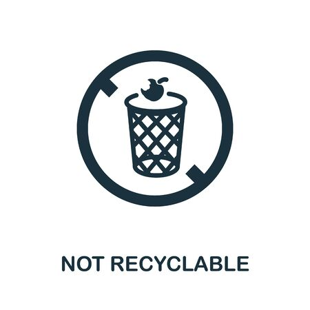 Not Recyclable icon. Simple illustration from recycling collection. Creative Not Recyclable icon for web design, templates, infographics and more.