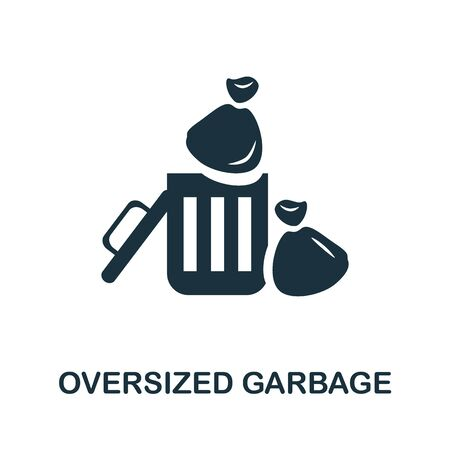 Oversized Garbage icon. Simple illustration from recycling collection. Creative Oversized Garbage icon for web design, templates, infographics and more.
