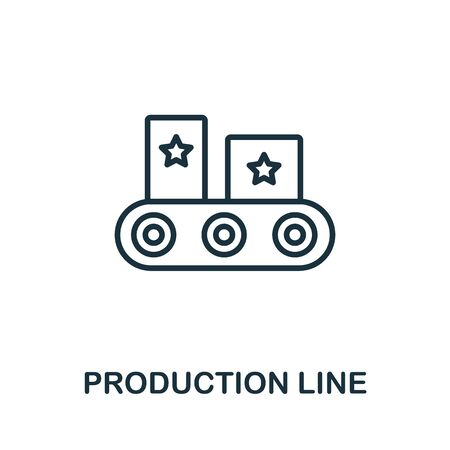 Production Line icon from production management collection. Simple line Production Line icon for templates, web design and infographics. Illustration