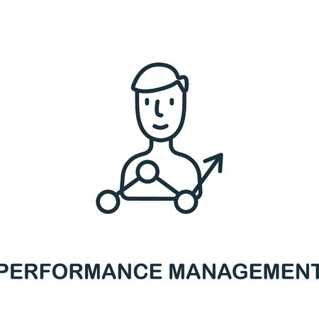 Perfomance Management icon from production management collection. Simple line Perfomance Management icon for templates, web design and infographics.