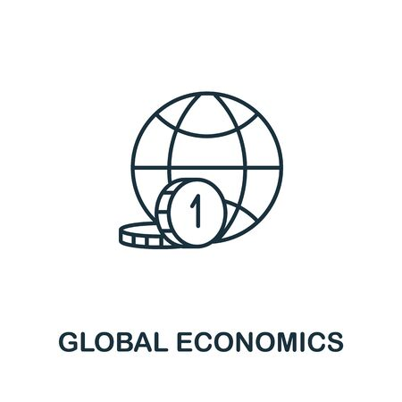 Global Economics icon from global business collection. Simple line Global Economics icon for templates, web design and infographics. Illusztráció