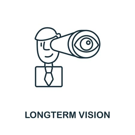 Longterm Vision icon from global business collection. Simple line Longterm Vision icon for templates, web design and infographics. Çizim