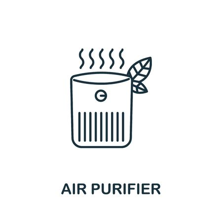 Air Purifier icon from household collection. Simple line Air Purifier icon for templates, web design and infographics. Vettoriali