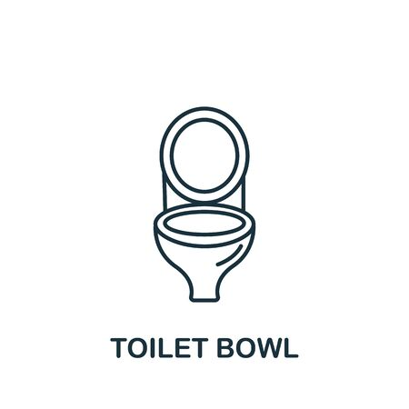 Toilet Bowl icon from interior collection. Simple line element toilet bowl symbol for templates, web design and infographics.