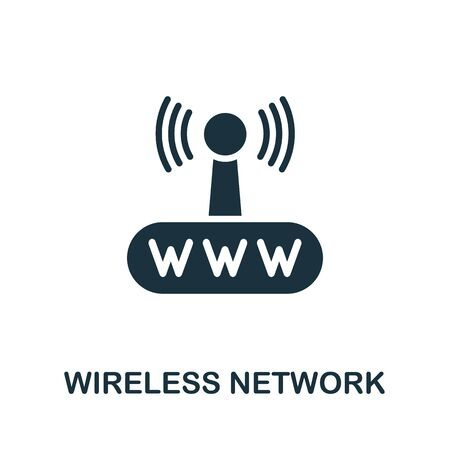 Wireless Network icon. Simple illustration from wireless devices collection. Creative Wireless Network icon for web design, templates, infographics and more. Illustration