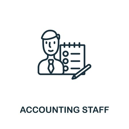 Accounting Staff icon from business training collection. Simple line Accounting Staff icon for templates, web design and infographics.