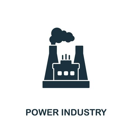 Power Industry icon from industrial collection. Simple line Power Industry icon for templates, web design and infographics. Illustration