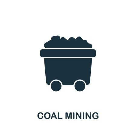 Coal Mining icon from industrial collection. Simple line Coal Mining icon for templates, web design and infographics.