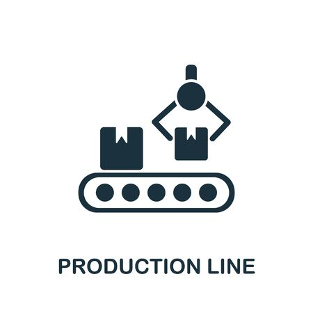 Production Line icon from industrial collection. Simple line Production Line icon for templates, web design and infographics.