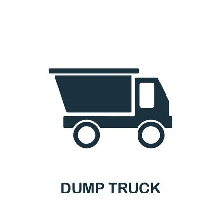 Dump Truck icon from industrial collection. Simple line Dump Truck icon for templates, web design and infographics. Illustration