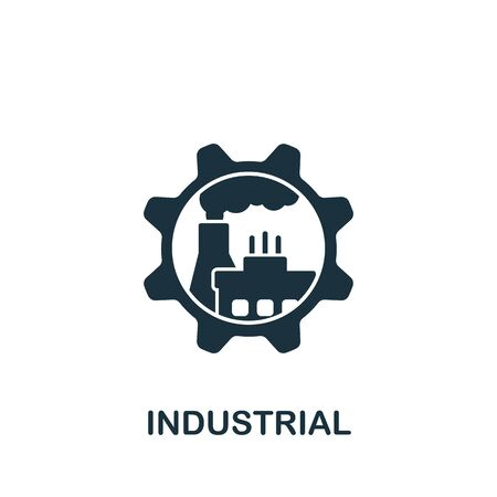 Industrial icon. Simple line element industrial symbol for templates, web design and infographics. Illustration