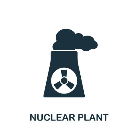 Nuclear Plant icon from industrial collection. Simple line Nuclear Plant icon for templates, web design and infographics.