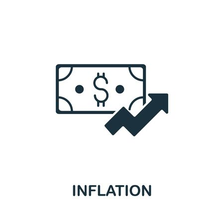 Inflation icon from investment collection. Simple line Inflation icon for templates, web design and infographics. 向量圖像