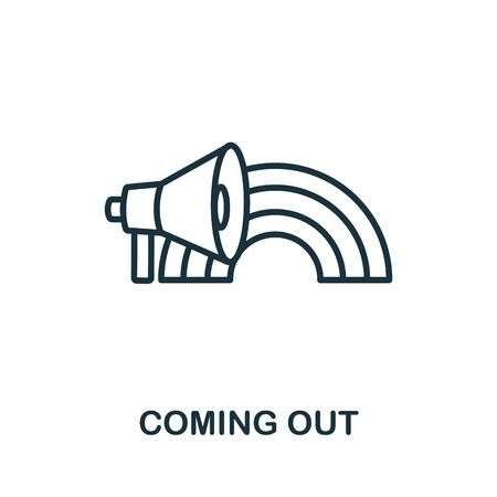 Coming Out icon from lgbt collection. Simple line Coming Out icon for templates, web design and infographics.