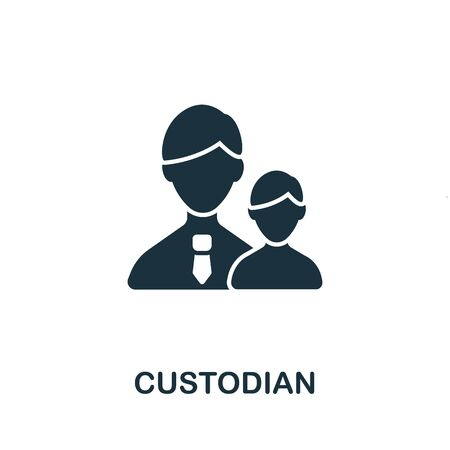 Custodian icon from investment collection. Simple line Custodian icon for templates, web design and infographics.