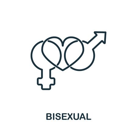 Bisexual icon from collection. Simple line Bisexual icon for templates, web design and infographics. Ilustración de vector