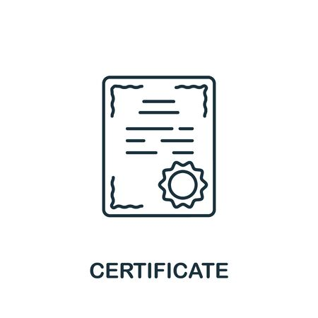 Certificate icon from education collection. Simple line Certificate icon for templates, web design and infographics. Vektorgrafik