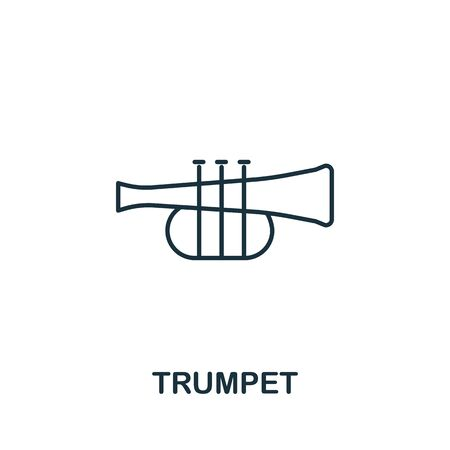 Trumpet icon from music collection. Simple line Trumpet icon for templates, web design and infographics. Ilustrace