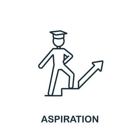 Aspiration icon from education collection. Simple line Aspiration icon for templates, web design and infographics. Illustration