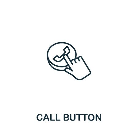Call Buttom icon from elderly care collection. Simple line element call buttom symbol for templates, web design and infographics. Ilustracja