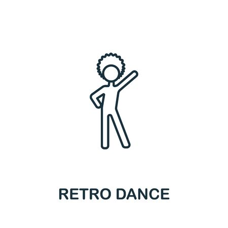 Retro Dance icon from elderly care collection. Simple line element retro dance symbol for templates, web design and infographics.
