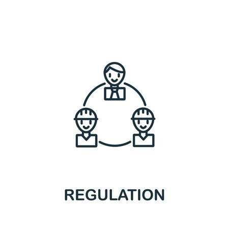 Regulation icon from work safety collection. Simple line element regulation symbol for templates, web design and infographics. Иллюстрация