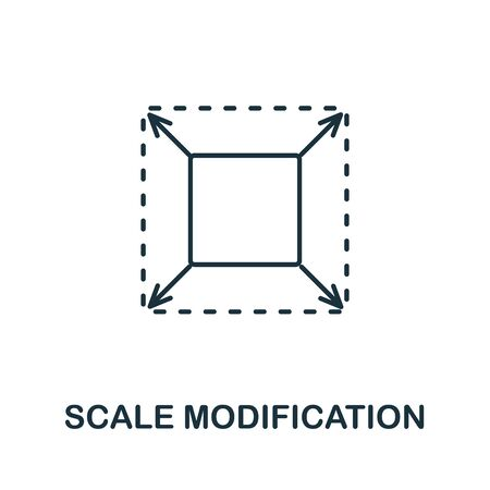 Scale Modification icon from 3d printing collection. Simple line Scale Modification icon for templates, web design and infographics.