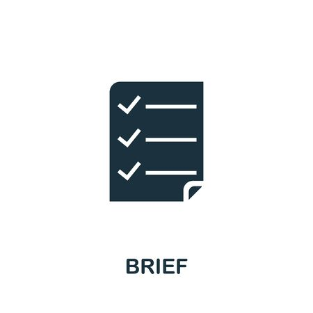 Brief icon. Simple illustration from creative package collection. Creative Brief icon for web design, templates, infographics and more.