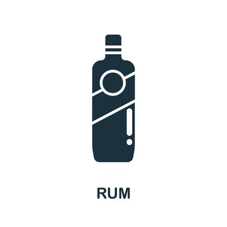 Rum icon from australia collection. Simple line Rum icon for templates, web design and infographics. 向量圖像