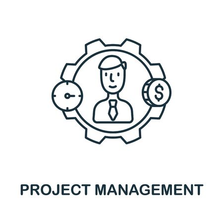 Project Management icon from planing collection. Simple line Project Management icon for templates, web design and infographics.