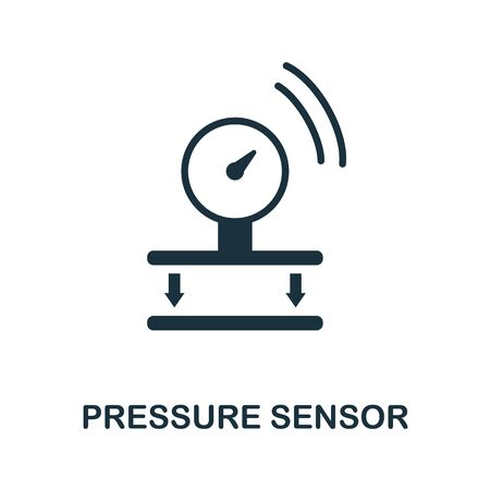 Pressure Sensor icon. Simple element from sensors icons collection. Creative Pressure Sensor icon ui, ux, apps, software and infographics.