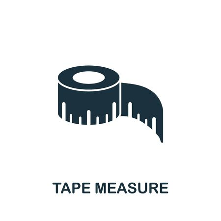 Tape Measure icon. Simple illustration from sewing equipment collection. Creative Tape Measure icon for web design, templates, infographics and more. Иллюстрация
