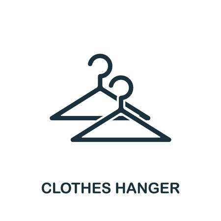 Clothes Hanger icon. Simple illustration from sewing equipment collection. Creative Clothes Hanger icon for web design, templates, infographics and more.