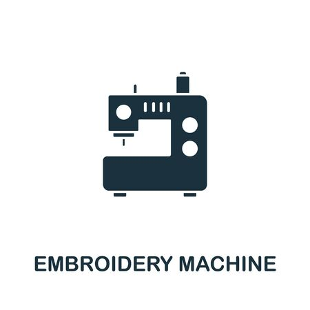 Embroidery Machine icon. Simple illustration from sewing equipment collection. Creative Embroidery Machine icon for web design, templates, infographics and more. Иллюстрация