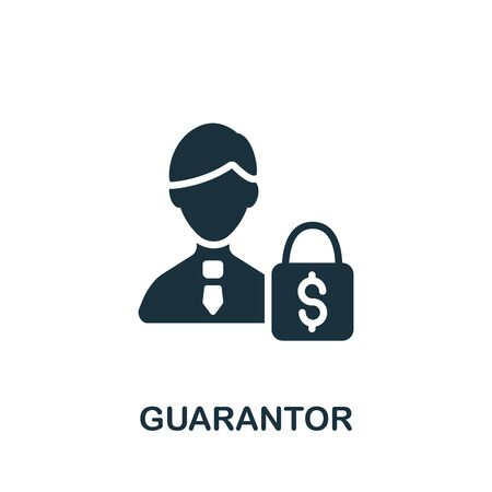 Guarantor icon. Simple illustration from banking collection. Monochrome Guarantor icon for web design, templates and infographics.