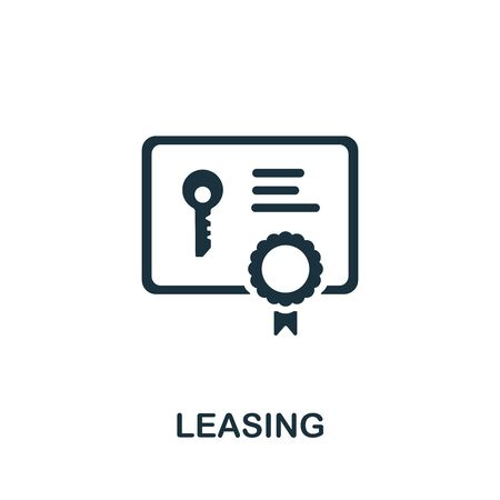 Leasing icon. Simple illustration from banking collection. Monochrome Leasing icon for web design, templates and infographics. Illustration