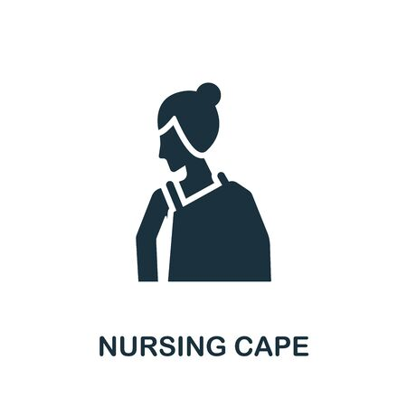 Nursing Cape icon. Simple illustration from baby feeding collection. Monochrome Nursing Cape icon for web design, templates and infographics.