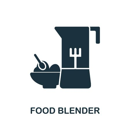 Food Blender icon. Simple illustration from baby feeding collection. Monochrome Food Blender icon for web design, templates and infographics. 向量圖像