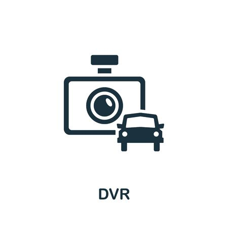 Dvr icon. Simple illustration from carsharing collection. Monochrome Dvr icon for web design, templates and infographics.