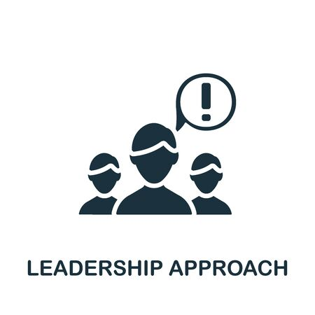 Leadership Approach icon. Simple element from business organization collection. Creative Leadership Approach icon for web design, templates, infographics and more Illustration